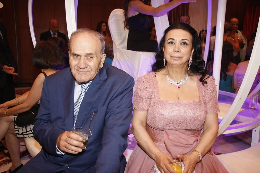 والدا العروس: ميشال وزاهية طبراني