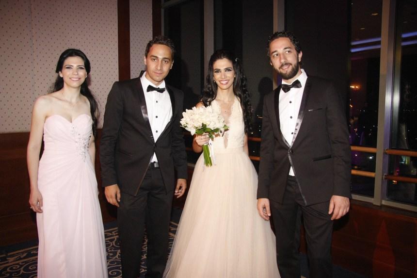 الأشابين: بشير وباتريك عوّاد مع إيفا وباتريسيا طبراني