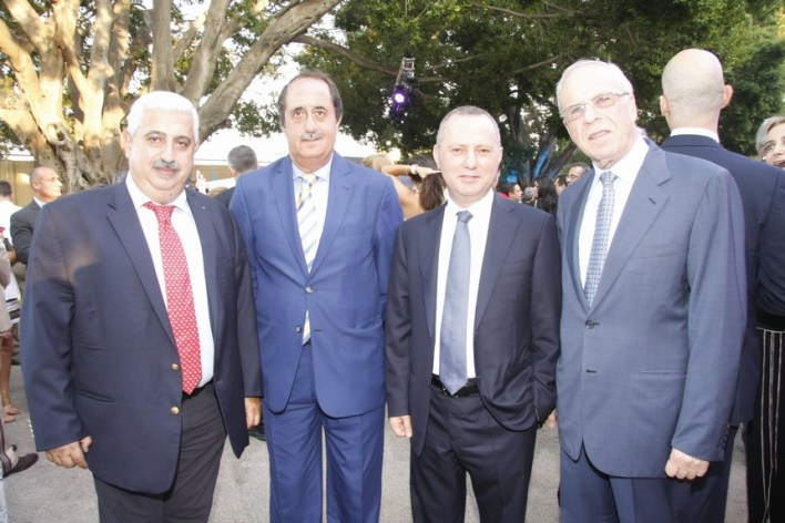 الياس حنا، الوزير روني عريجي، ميشال دوشدارفيان، زياد منصور