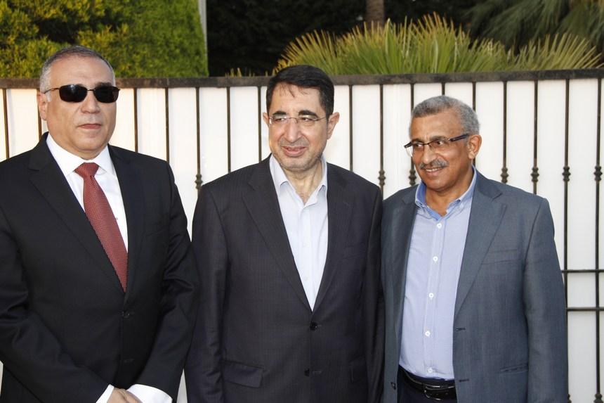 أسامة سعد، الوزير حسين حاج علي، السفير المصري محمد بدر الدين زايد