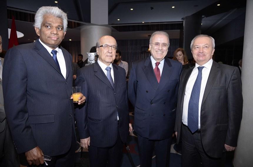 سفير ماليزيا إيلانغو كاروبانان، جوزيف طربيه، جوزيف حبيس، سفير تركيا سليمان إنان أوزيلديز
