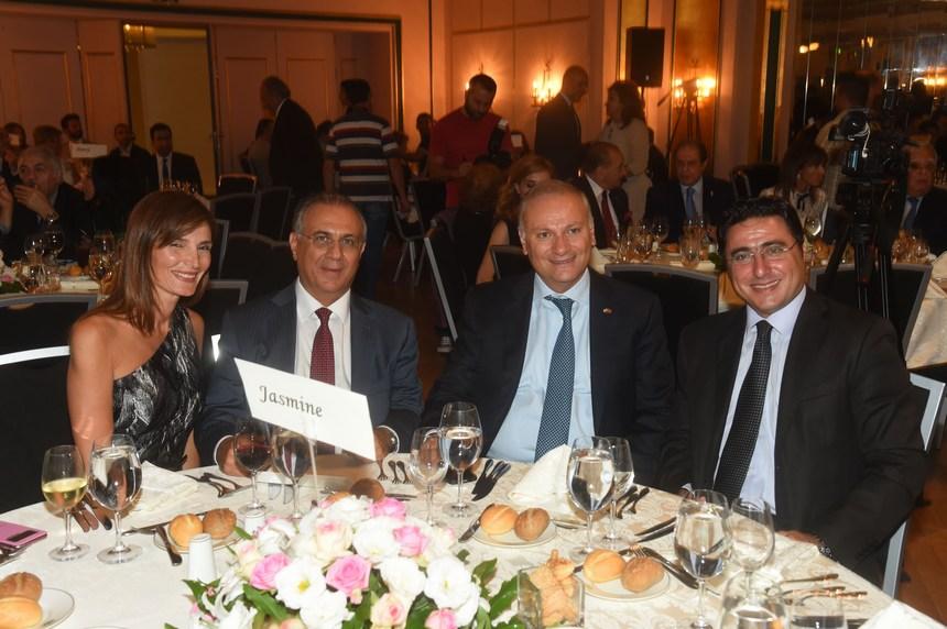 الدكتور فؤاد زمكحل، سعد الأزهري، جورج عساف وقرينته نانسي