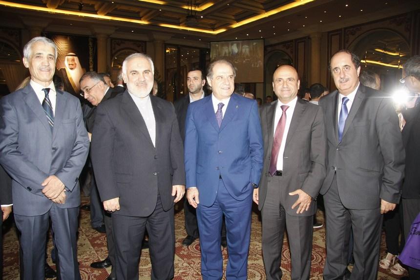 ميشال دوشدارفيان، النائب سيمون أبي رميا، الوزير سجعان قزي، وسفيرا البحرين والجزائر
