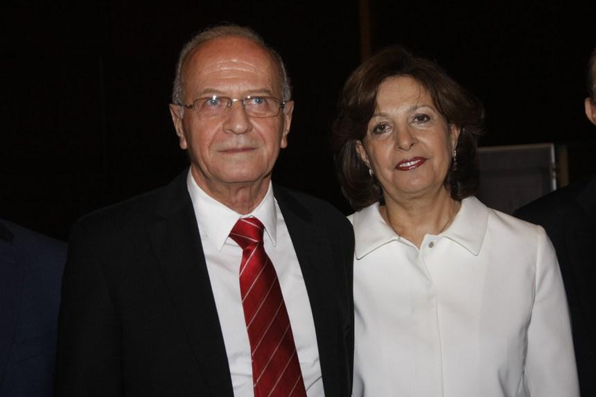القاضي سمير حمود وعقيلته ليلى