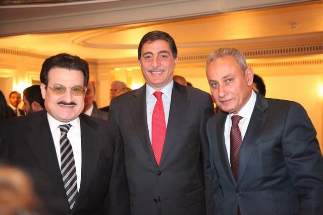 السفير المصري ناصر كامل، سفير الأردن مازن حمود، السفير السعودي الأمير محمد بن نواف بن عبد العزيز آل سعود