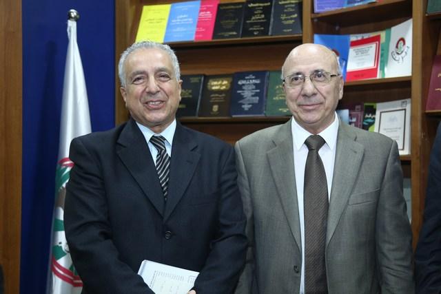 الوزير شكيب قرطباوي والنائب صلاح حنين