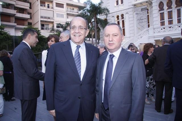 الوزير ريمون عريجي وروجيه نسناس