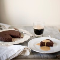Warm Chocolate Pudding Cake with Caramel Creme Anglaise, Day 4: Irene's Beans