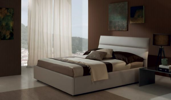 Letto SOFFIO in ecopelle