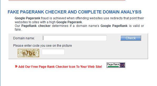 fake pagerank