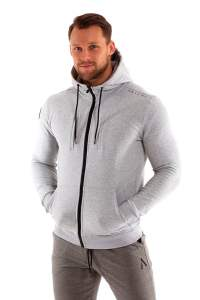 Astani wear full sleeve hooded jacket set grey