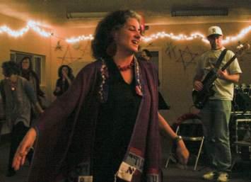 Rabbi Debra Kolodny   As the Spirit Moves Us. Rabbi Debra during Dance Davvening (Prayer)