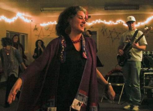 Rabbi Debra Kolodny | As the Spirit Moves Us. Rabbi Debra during Dance Davvening (Prayer)