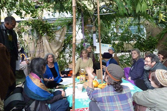 Rabbi Debra Kolodny   As the Spirit Moves Us. Occupy Portland Sukkah - Rabbi Debra Teaching