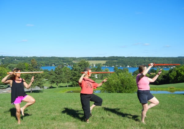 Rabbi Debra Kolodny | As the Spirit Moves Us. Rabbi Debra Practicing Tai Chi Sword Form