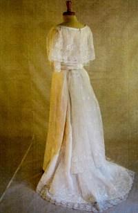 Bridal Gowns - 1907 Edwardian Wedding Dress