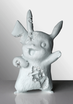 This Daniel Arsham Crystalized Pikachu in Blue is modeled after the most popular Pokémon character of all time. The lovable Pikachu Statue was released on April 24th, 2020 to coincide with the release of Arsham's Uniqlo x Pokemon t-shirt collection. The sculpture is made of light blue cast resin and aluminum oxide, and is cast from Arsham's hand crafted Pikachu. Each edition is 33 cm in height and weights 5.13 kg. Each sculpture includes an Arsham Editions holographic label verifying its edition number and authenticity.