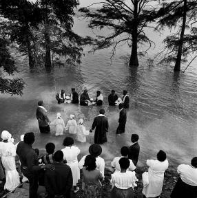 River Baptism, Moon Lake, Coahoma County, Mississippi, 1989 by Ken Light
