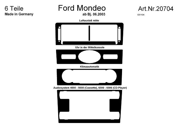 Ford Mondeo MK3 Interiørdekor 03- 4/5000 Audio, Astina.dk