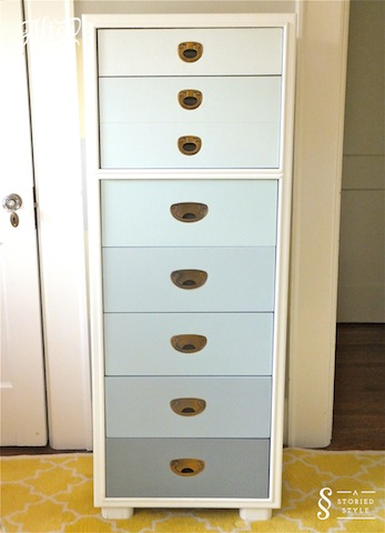 Diy Tutorial Ombre Chest A Storied Style