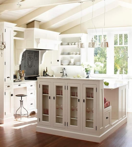 Kitchen Island Display Cabinet - A Storied Style