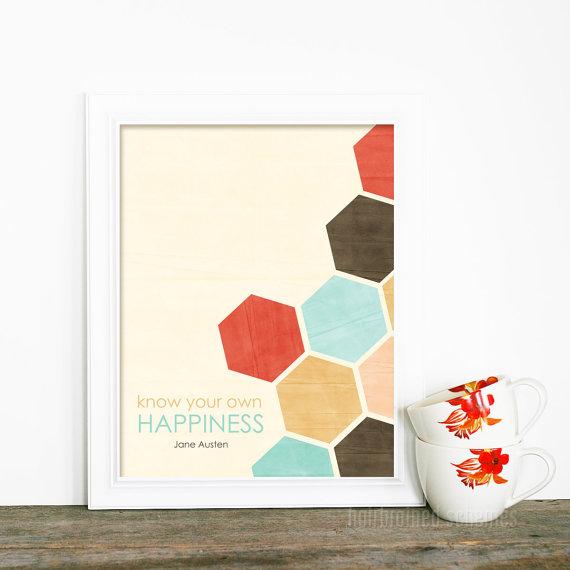 honeycomb jane austen print via etsy