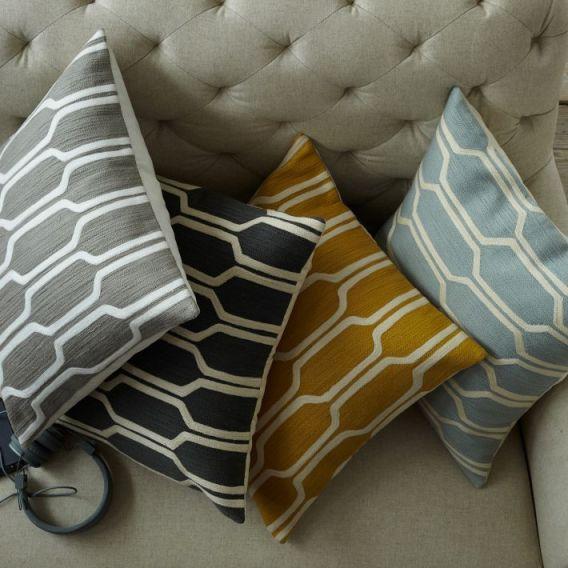 honeycomb crewel pillows via west elm