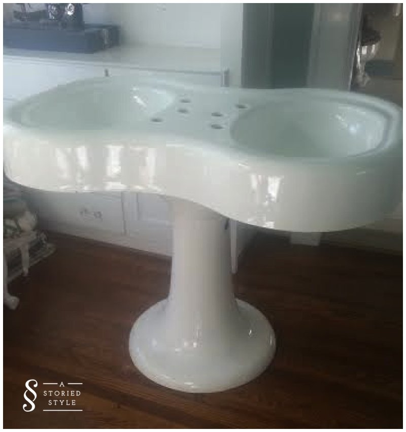 Antique Barber Shop Sink - A Storied Style