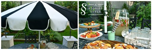 umbrella and food