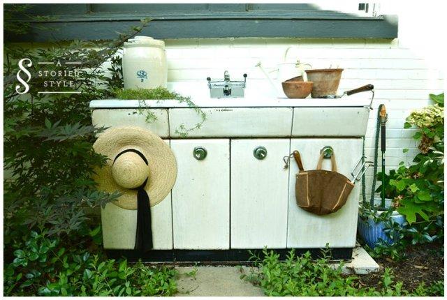 sink potting bench