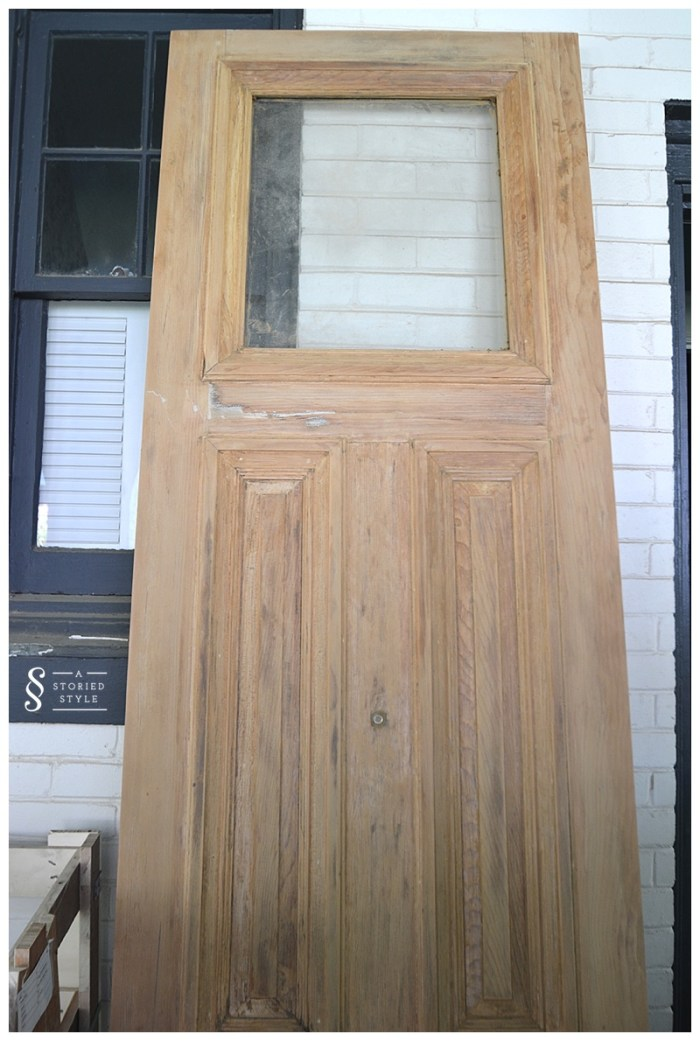 raw wood doors before