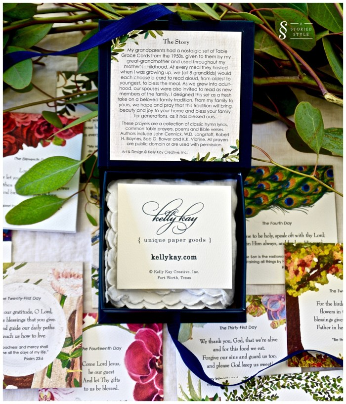 table grace cards kelly kay paper