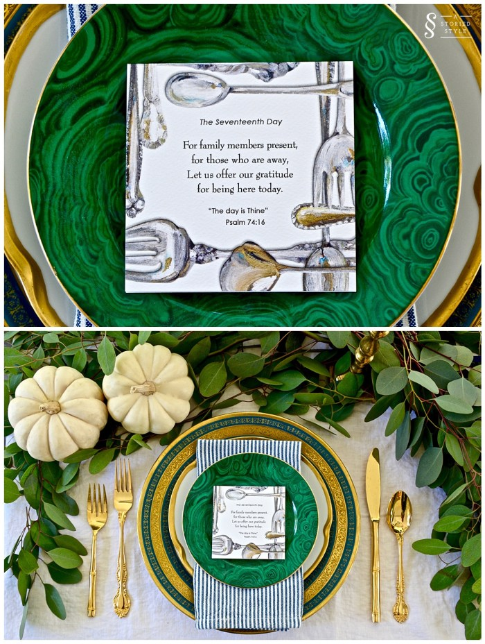 holiday table place setting
