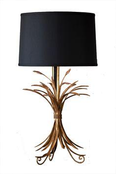 wheat tole lamp