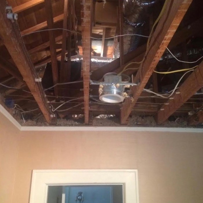 ceiling falling