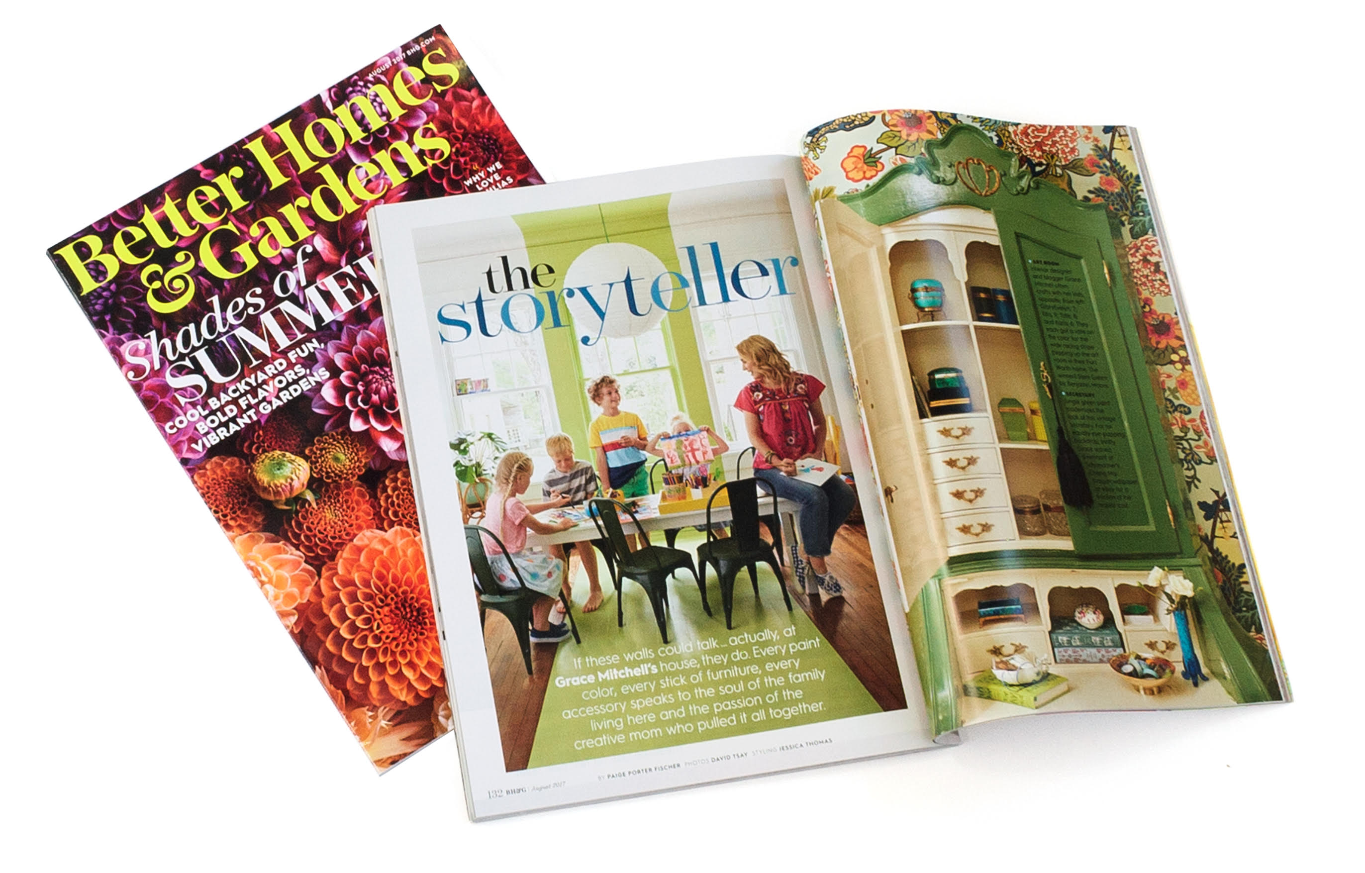 Our Home Tour In Better Homes Gardens August 2017 A Storied Style