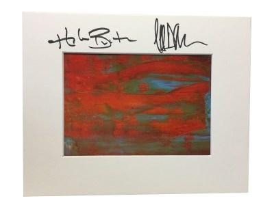 Autographed Fire Print