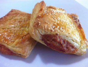 Puff pastry Parcels sauasage