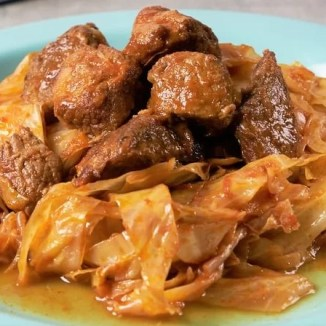 Pork cabbage stew