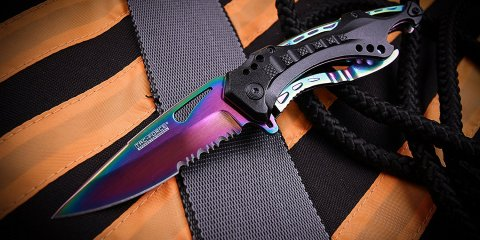 Anodizing Titanium knife