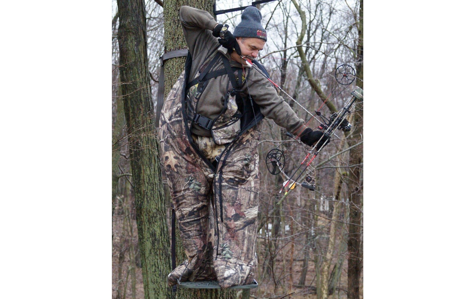 cover photo hunting out com bowhunting and precautions blind the can an elevated heater comfort of blinds during provide enclosed blog warmth season late