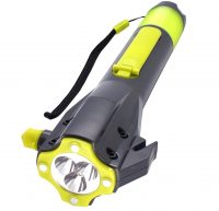 cybertech all in one emergency hand crank flashlight image