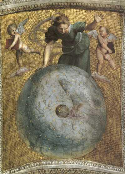 Raffaello, from the ceiling of Stanza della Segnatura