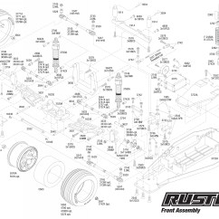 Traxxas Rustler Vxl Parts Diagram How To Make A Conceptual Framework Exploded View 1 10 Front Part Astra