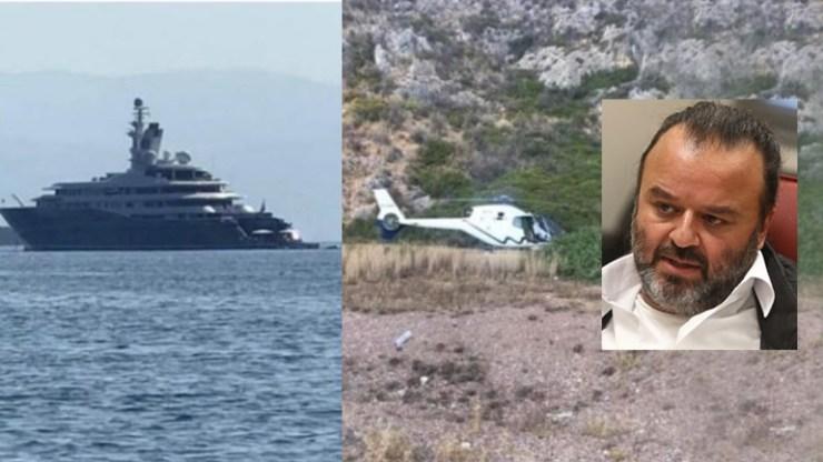 Η θαλαμηγός του Εμίρη του Κατάρ και το ελικόπτερο