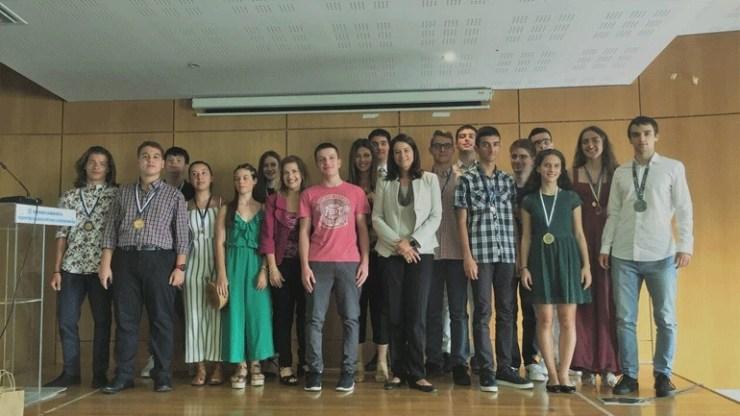 Βράβευση διακριθέντων μαθητών σε Μαθηματικές Ολυμπιάδες από την ηγεσία του Υπουργείου Παιδείας