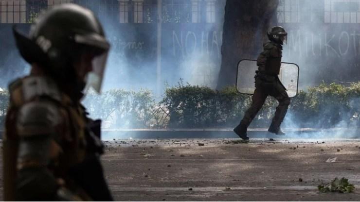 Χιλή: Πανικό εν μέσω διαδηλώσεων προκάλεσε ο σεισμός