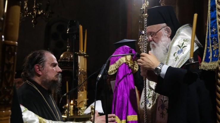 Ενθρονίστηκε ο νέος ηγούμενος της Ι.Μ. Παναγίας Χρυσοπηγής