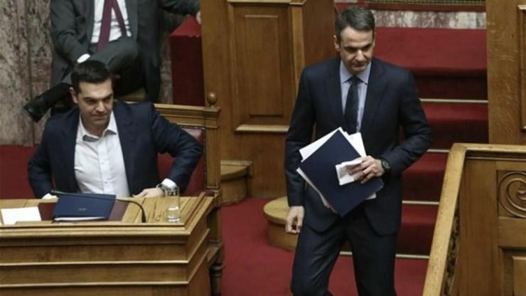 Σκληρή αντιπαράθεση Τσίπρα-Μητσοτάκη στη Βουλή