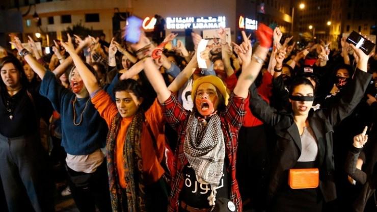 Διαδήλωση κατά της σεξουαλικής κακοποίησης γυναικών στη Βηρυτό